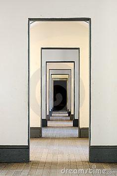 Hall of many doors by Glenn Nagel, via Dreamstime