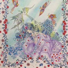 Instagram media cordelia_67 - ✧ ✧ #お姫さまと妖精のぬり絵ブック #大人のぬりえ #コロリアージュ #coloringbook ✧ 『こもれび』