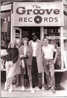 Staff of The Groove Records, outside the shop Chris Long, Vinyl Collectors, Vinyl Junkies, Phonograph, Great Bands, Soho, Vinyl Records, Playboy, Street Photography