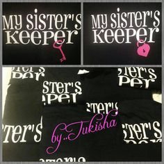 Check out this item in my Etsy shop https://www.etsy.com/listing/212088246/my-sisters-keeper-lock-key-shirt