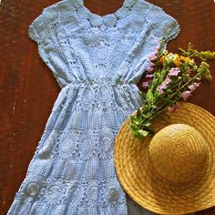 Wildflowers and Romance...hand-dyed crochet lace dress