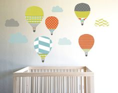 HIGH IN THE SKY HOT AIR BALLOONS - Childrens wall decal
