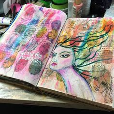 This #artjournal page is done. We have a lot to do to make sure the world continues to be a better place. .@thestromboshow @strombo #womensmarch #art