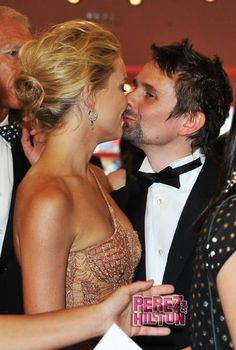 Actress Kate Hudson and Matt Bellamy attend the Opening Ceremony of the Venice International Film Festival at Palazzo del Cinema on August 2012 in Venice, Italy. (Photo by Pascal Le Segretain/Getty Images) Kate Hudson, Celebrity Couples, Celebrity News, Nude Gown, Matthew Bellamy, Hollywood Gossip, Fashion Couple, International Film Festival, Celebs