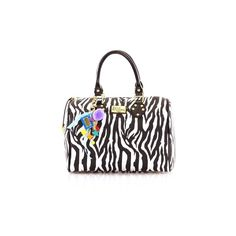 Paul's Boutique Molly Bag in zebra ($80) ❤ liked on Polyvore featuring bags, handbags, zebra print purse, zebra bag, zebra print handbags, zebra purse and pauls boutique handbags