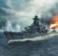 Prinz Eugen was an Admiral Hipper class heavy cruiser. She served with Nazi Germany's Kriegsmarine in WW II.