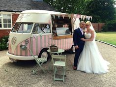 Florence a beautiful VW Ice Cream Camper at a gorgeous wedding #icecreamvan http://www.pollys-parlour.co.uk