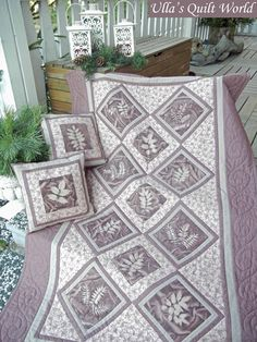 Ulla's Quilt World: Quilt blanket, sun dyed fabric