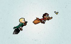 harry potter and draco malfoy  J. Castenada worked on pixel heroes, with a nice Super Mario World style.