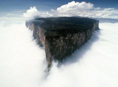 Mount Roraima, Venezuela, Brazil and Guyana, 5° 8′ 36″ N, 60° 45′ 45″ W  Mount Roraima, also known as Tepuy Roraima is the highest of the Pakaraima chain of tepui plateau in South America. Its 31 km2 summit area is defended by 400-metre-tall cliffs on all sides. The mountain includes the triple border point of Venezuela, Brazil and Guyana.