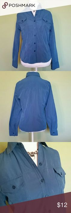 Joanna Soft Teal Butto Up Dress Shirt More teal in color than wha he picture shows. Gently used, in great condition! Joanna Tops Button Down Shirts