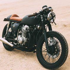Neat matte black motorcycle