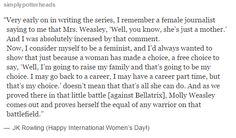 Happy International Women's Day! - J.K.Rowling about Molly Weasley