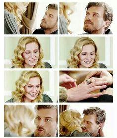 Seyit asks Sura to marry him. Sura, Farah Zeynep Abdullah, and Kivanc Tatlitug as Kurt Seyit in the Turkish TV series Kurt Seyit ve Sura 2014.