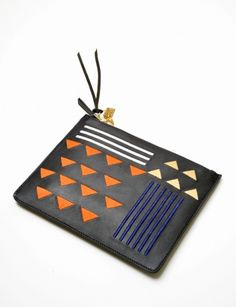 Lizzie Fortunato: zip pouch in jasper triangle