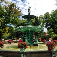 Awesome fountain in Madison, Indiana