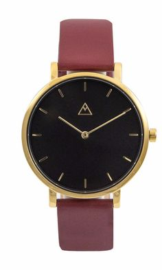 The Debut Black / Gold / Cerise Leather by Medium.