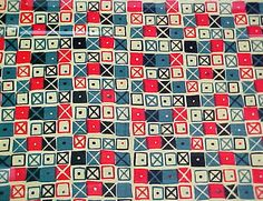 Original Cross Patch textile by Ray Eames in the permanent collection of the Metropolitan Museum of Art in New York City.