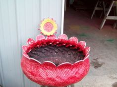 Yard projects with Old Tires, old tire projects, old tire, turned inside out & painted....makes a great flower pot!, Yards Design