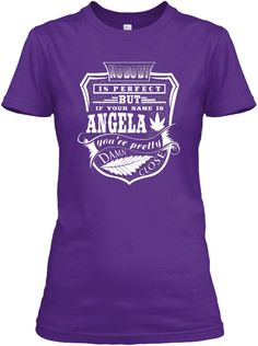 Angela Tshirt, Perfect Angela! Purple Women's T-Shirt Front