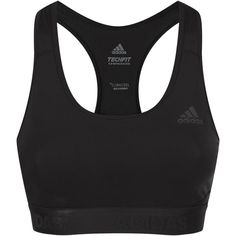 adidas Alphaskin Padded Sports Bra ($32) ❤ liked on Polyvore featuring activewear, sports bras, adidas, racerback sports bra, adidas sports bra, racer back sports bra and mesh sports bra