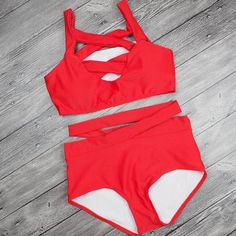 High Waist Bikini 2017 Women Push Up Swimwear Green Black Red Swimsuit Brazilian Bikini Bandeau Halter Bathing Suit biquini