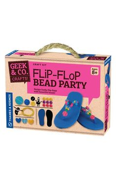 Thames & Kosmos 'Flip-Flop Bead Party' Kit available at Science Experiment Kits, Kit Co, Flip Flop Craft, Art For Kids, Crafts For Kids, Mobile Art, Geek Crafts, Educational Toys For Kids, Party Kit