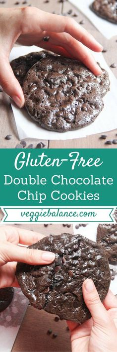 Flourless Double Chocolate Chip Cookies | The only cookie you'll need in your life FOREVER. You'll never know it's flourless and totally gluten-free