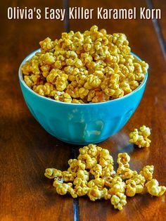 Olivia\'s Killer Karamel Korn a.k.a. Easy Caramel Popcorn. The easiest and very best homemade caramel popcorn recipe that I\'ve ever tried.