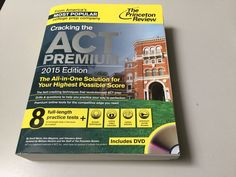 CRACKING THE ACT PREMIUM 2015 ED, PRINCETON REVIEW, DVD, TESTS #StudyGuide