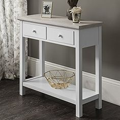 Console Table   2 Drawers   White   Premium Quality   Laura JamesTM White Console Table, Console Tables, Interior Decorating, Interior Design, Interior Ideas, Hallway Inspiration, Entry Tables, Colorful Decor, Decoration