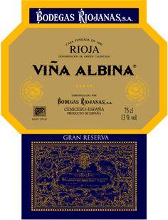 Vina Albina Gran Reserva #Rioja #wine