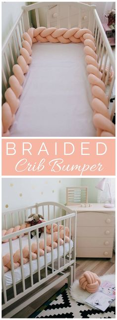 This Crib bumper is so cute and pretty -Perfect for the baby girl | nursery decor | nursery ideas | nursery inspiration | baby girl | bed bumper | #ad (Affiliatelink - I will earn a small commission if you purchase through this link - no additional cost for you)