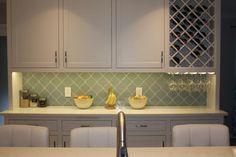Seafoam Arabesque Glass Mosaic Tiles - Rocky Point Tile - Glass and Mosaic Tile Store