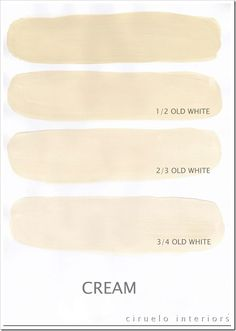 Perfect site for mixing ann sloan paint colors Cream og Old White