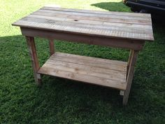 Pallet table Pallet, Projects, Furniture, Home Decor, Log Projects, Shed Base, Blue Prints, Decoration Home, Room Decor