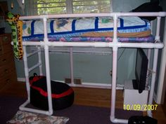 PVC loft bed - we do need more room for play