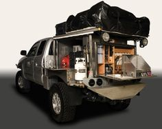 Tricked out survival truck.  I want this!