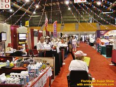 Looks like this show was in a big barn, looks like we need doors and windows for some division (also a few cabinets w/ shelves for display and division) Rv Show, The Fl, Florida, Street View, Exhibit, Ideas, The Florida, Thoughts
