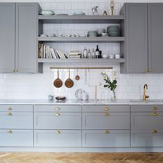 40 Ideas kitchen ikea savedal white cabinets for 2019 Kitchen Ikea, Gold Kitchen, Home Decor Kitchen, New Kitchen, Kitchen Dining, Kitchen Cabinets, Grey Cabinets, Ninja Kitchen, Wall Cabinets