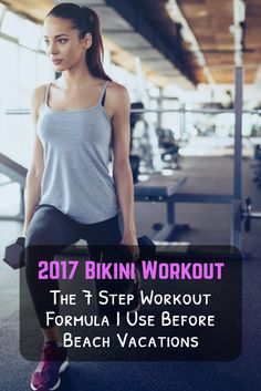 The bikini workout plan I have used the past 6 years for an annual tropical vacation I take with three of my college girlfriends. Works extremely well!