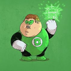 Chunky Green Lantern by Alex Solis Fat Cartoon Characters, Cartoon Icons, Cartoon Art, Fat Character, Character Design, Cultura Pop, Geeks, Alex Solis, Alternative Movie Posters