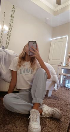 Comfy School Outfits, Cute Lazy Outfits, Trendy Summer Outfits, Chill Outfits, Pretty Outfits, Stylish Outfits, College Outfits, Casual Comfy Outfits, Outfits For School Summer