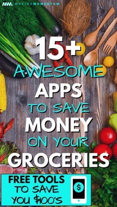 Want to cut costs on your food budget and bills? Here are 15+ great free apps that save money on groceries and will only take you a matter of minutes each week! Use this collection of tools and money saving tips to help you save $100's each month! #savemoney #frugal #personalfinance #budget