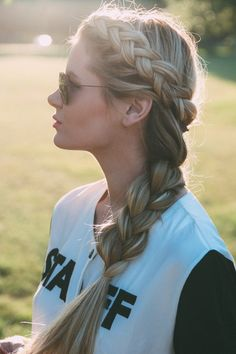 Big braid. I hope my hair is this long one day :-)