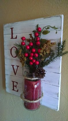 The item you are viewing is for a rustic Love wall sconce. It is made from hand picked pine wood and built solid to last for years to come.