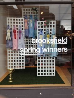 Our Spring Racing windows at the Chapel St store - thanks to House & Universe.