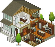 isometric house #pixelart