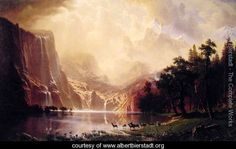 Albert Brierstadt is another of my favorite artists - especially his paintings of Yosemite...