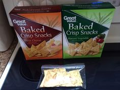 Only 3 weight watchers points plus for 18 crackers and both flavors are delicious!!! Walmart brand baked crisp snack crackers! Less than $2 a box too! The amount in the snack bag pictures is an 18 cracker serving! Great chip replacement:) cheese or garden vegetable flavor. 3 WWP+ WWPP WEIGHT WATCHERS POINTS+